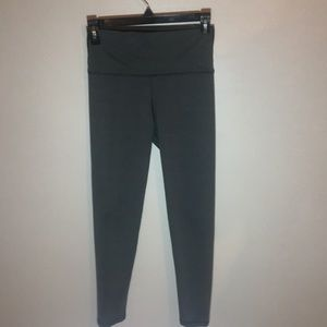 like new, grey form hugging leggings